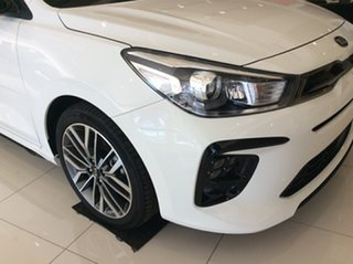 2021 Kia Rio YB MY21 GT-Line DCT Clear White 7 Speed Sports Automatic Dual Clutch Hatchback.