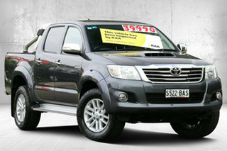 2012 Toyota Hilux KUN26R MY12 SR5 Double Cab Dark Grey Mica 4 Speed Automatic Utility.