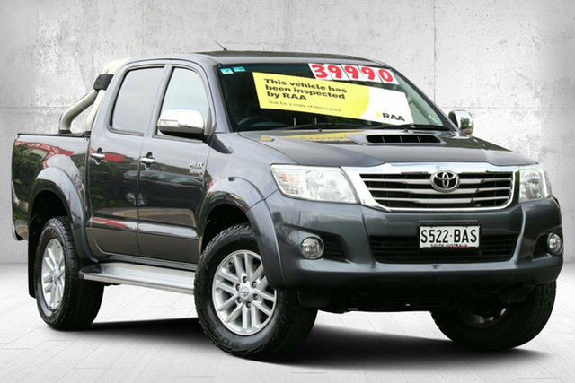 Used Toyota Hilux KUN26R MY12 SR5 Double Cab Valley View, 2012 Toyota Hilux KUN26R MY12 SR5 Double Cab Dark Grey Mica 4 Speed Automatic Utility