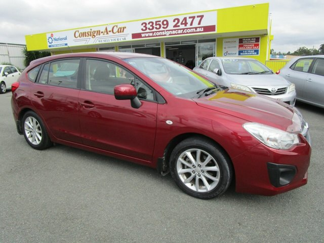 Used Subaru Impreza G4 MY14 2.0i Lineartronic AWD Kedron, 2014 Subaru Impreza G4 MY14 2.0i Lineartronic AWD Red 6 Speed Constant Variable Hatchback
