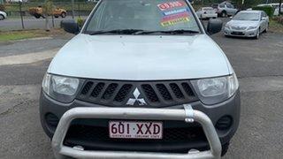 2008 Mitsubishi Triton ML MY08 GLX White 5 Speed Manual Double Cab Utility.