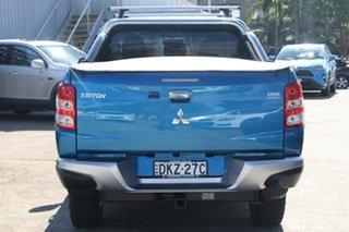 2016 Mitsubishi Triton MQ MY17 GLS (4x4) Impulse Blue 5 Speed Automatic Dual Cab Utility