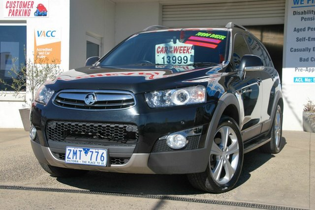 Used Holden Captiva CG Series II 7 LX (4x4) Wendouree, 2012 Holden Captiva CG Series II 7 LX (4x4) Black 6 Speed Automatic Wagon