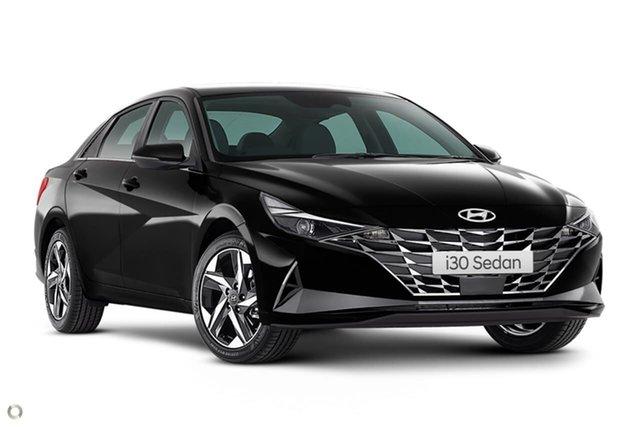 New Hyundai i30 CN7.V1 MY21 Elite Oakleigh, 2021 Hyundai i30 CN7.V1 MY21 Elite Black 6 Speed Sports Automatic Sedan