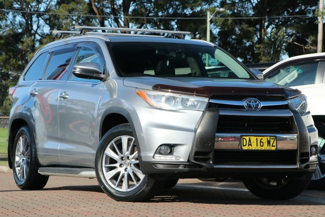 Pre-Owned Toyota Kluger GSU55R Grande AWD Warwick Farm, 2015 Toyota Kluger GSU55R Grande AWD Silver 6 Speed Sports Automatic SUV