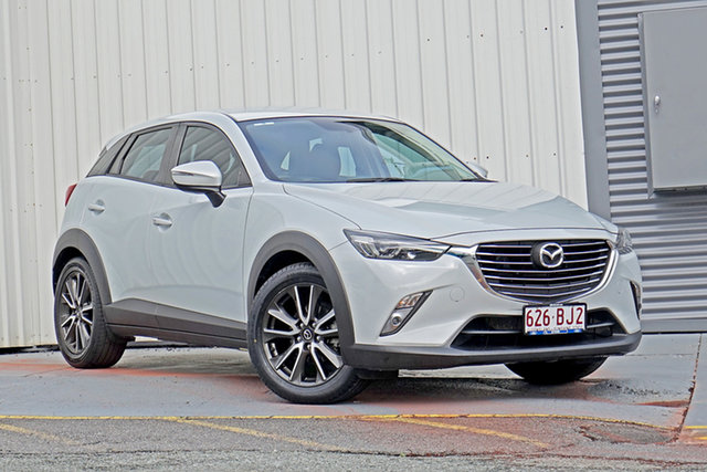 Used Mazda CX-3 DK2W7A sTouring SKYACTIV-Drive Springwood, 2016 Mazda CX-3 DK2W7A sTouring SKYACTIV-Drive White 6 Speed Sports Automatic Wagon