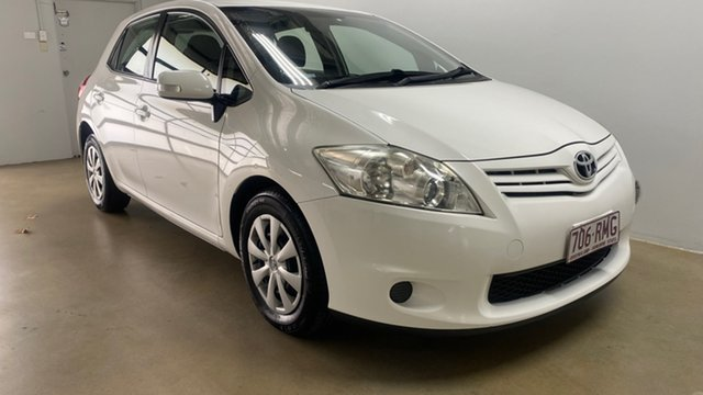 Used Toyota Corolla ZRE152R MY11 Ascent Phillip, 2011 Toyota Corolla ZRE152R MY11 Ascent White 4 Speed Automatic Hatchback