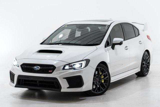 Used Subaru WRX V1 MY19 STI AWD Premium Berwick, 2018 Subaru WRX V1 MY19 STI AWD Premium White 6 Speed Manual Sedan