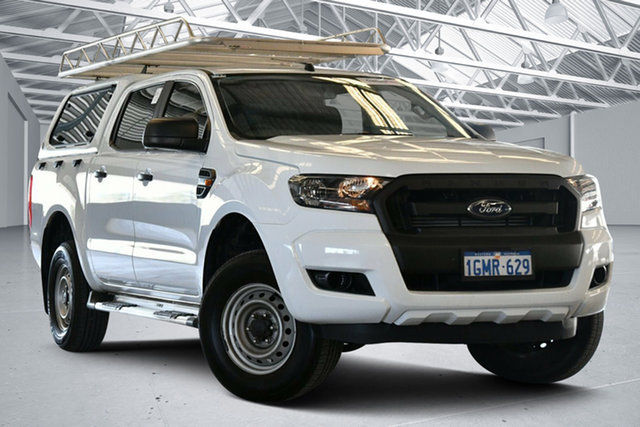 Used Ford Ranger PX MkII XL Hi-Rider Perth Airport, 2017 Ford Ranger PX MkII XL Hi-Rider Frozen White 6 Speed Sports Automatic Utility