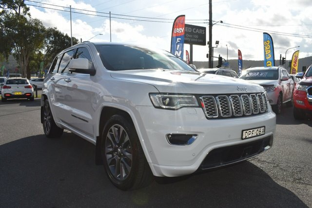 Used Jeep Grand Cherokee WK MY17 Overland Gosford, 2017 Jeep Grand Cherokee WK MY17 Overland White 8 Speed Sports Automatic Wagon