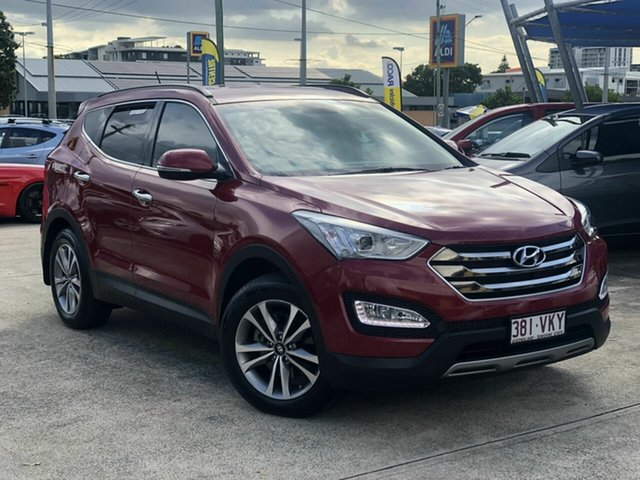 Used Hyundai Santa Fe DM2 MY15 Elite Chermside, 2014 Hyundai Santa Fe DM2 MY15 Elite Red 6 Speed Sports Automatic Wagon