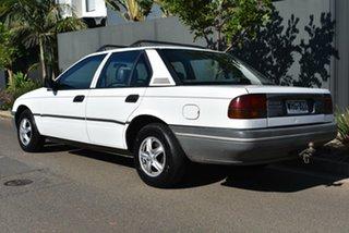 1990 Ford Falcon EA II GL White 4 Speed Automatic Sedan.