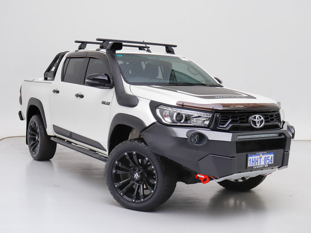 Used Toyota Hilux GUN126R MY19 Rugged X (4x4), 2019 Toyota Hilux GUN126R MY19 Rugged X (4x4) White 6 Speed Automatic Double Cab Pick Up
