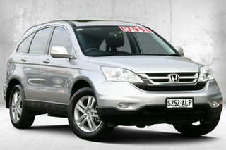 2010 Honda CR-V RE MY2010 Luxury 4WD Alabaster Silver 5 Speed Automatic Wagon.