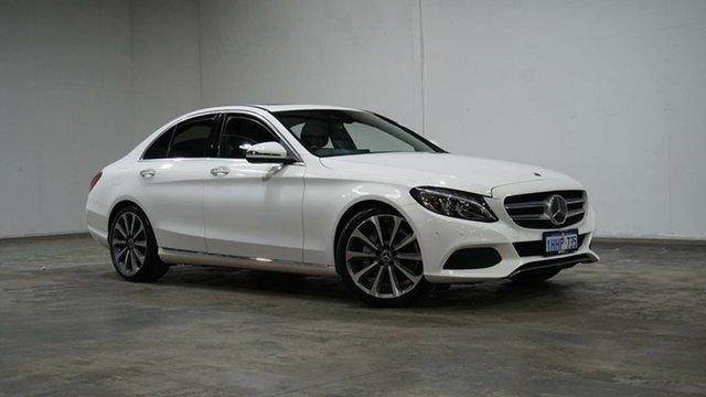 Used Mercedes-Benz C-Class W205 807+057MY C250 9G-Tronic Welshpool, 2017 Mercedes-Benz C-Class W205 807+057MY C250 9G-Tronic White 9 Speed Sports Automatic Sedan
