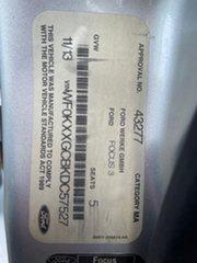 2013 Ford Focus LW MK2 ST Silver 6 Speed Manual Hatchback