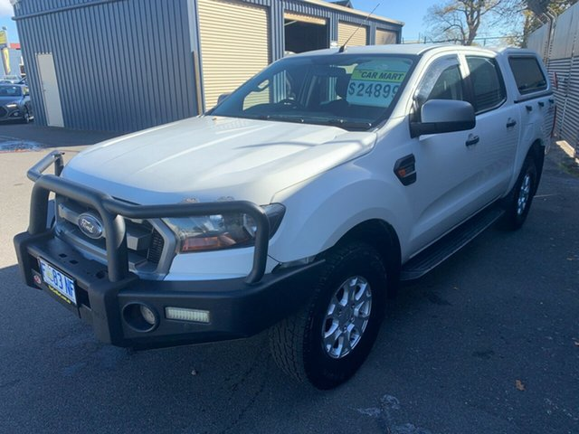Used Ford Ranger PX MkII XLS Double Cab Launceston, 2016 Ford Ranger PX MkII XLS Double Cab White 6 Speed Manual Utility