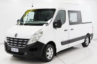 2013 Renault Master X62 MWB White 6 Speed Manual Cab Chassis.