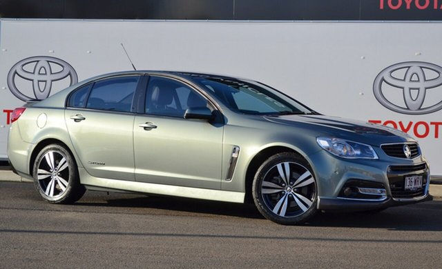 Pre-Owned Holden Commodore VF MY15 SS Storm Warwick, 2015 Holden Commodore VF MY15 SS Storm Green 6 Speed Manual Sedan