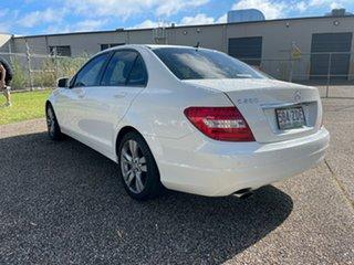 2013 Mercedes-Benz C200 W204 MY12 Elegance BE White 7 Speed Automatic G-Tronic Sedan