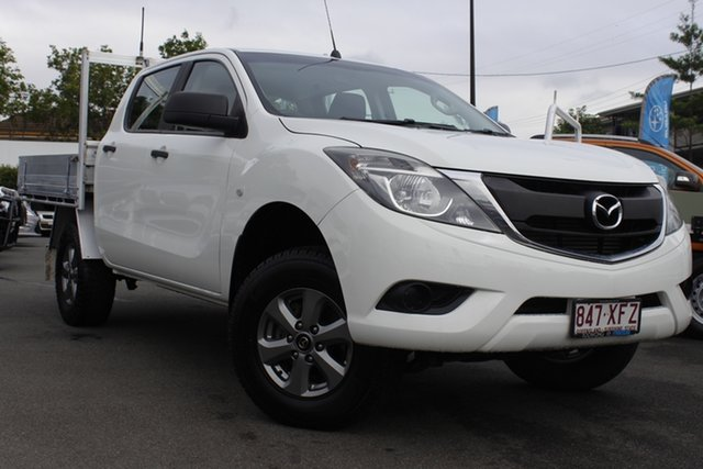 Used Mazda BT-50 UR0YG1 XT Freestyle 4x2 Hi-Rider Mount Gravatt, 2017 Mazda BT-50 UR0YG1 XT Freestyle 4x2 Hi-Rider White 6 Speed Sports Automatic Cab Chassis