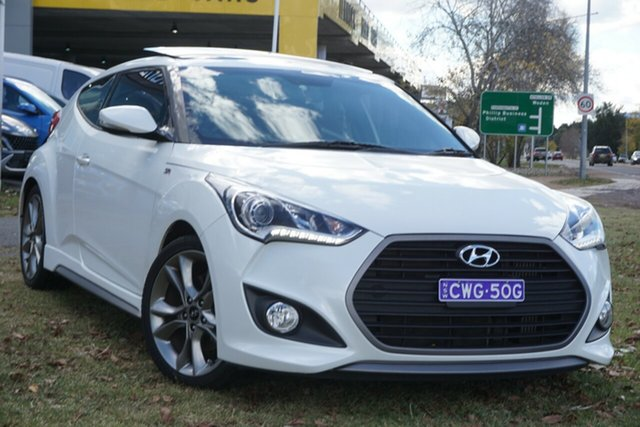 Used Hyundai Veloster FS4 Series II SR Coupe Turbo Phillip, 2015 Hyundai Veloster FS4 Series II SR Coupe Turbo White 6 Speed Manual Hatchback