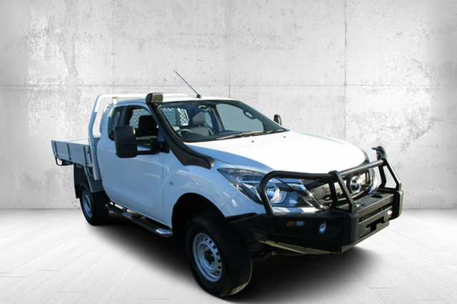Used Mazda BT-50 UR0YG1 XT Freestyle 4x2 Hi-Rider Bendigo, 2017 Mazda BT-50 UR0YG1 XT Freestyle 4x2 Hi-Rider White 6 Speed Sports Automatic Cab Chassis