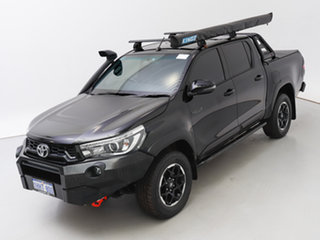 2018 Toyota Hilux GUN126R MY19 Rugged X (4x4) Black 6 Speed Automatic Double Cab Pick Up