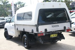 2017 Toyota Hilux TGN121R Workmate Glacier White 6 Speed Automatic Cab Chassis.