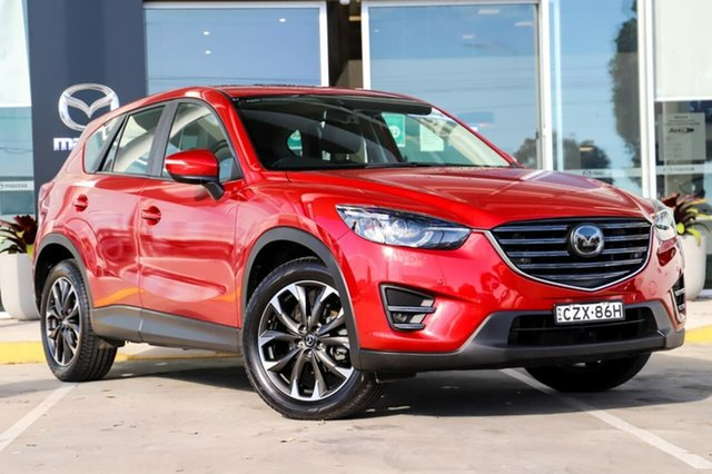 Used Mazda CX-5 KE1032 Akera SKYACTIV-Drive AWD Kirrawee, 2015 Mazda CX-5 KE1032 Akera SKYACTIV-Drive AWD Red 6 Speed Sports Automatic Wagon
