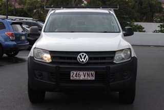 2013 Volkswagen Amarok 2H MY13 TDI400 4Mot White 6 Speed Manual Cab Chassis.