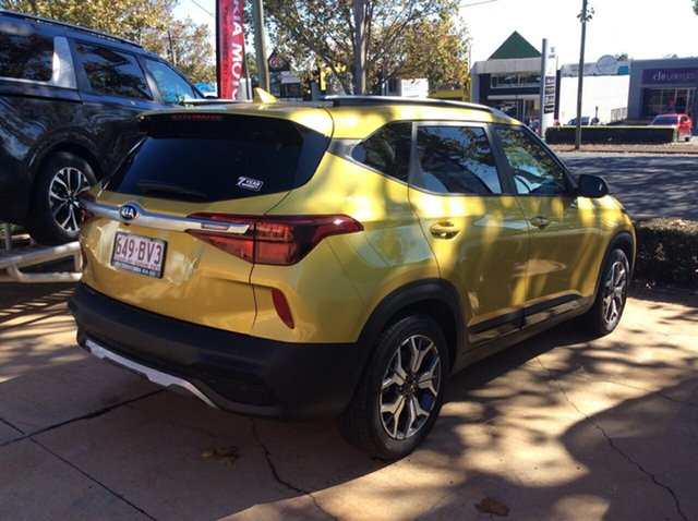 Demo Kia Seltos SP2 MY21 Sport+ 2WD Toowoomba, 2021 Kia Seltos SP2 MY21 Sport+ 2WD Starbright Yellow 1 Speed Constant Variable Wagon