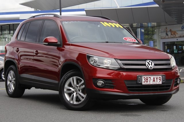 Used Volkswagen Tiguan 5N MY12.5 132TSI 4MOTION Pacific Mount Gravatt, 2012 Volkswagen Tiguan 5N MY12.5 132TSI 4MOTION Pacific Red 6 Speed Manual Wagon