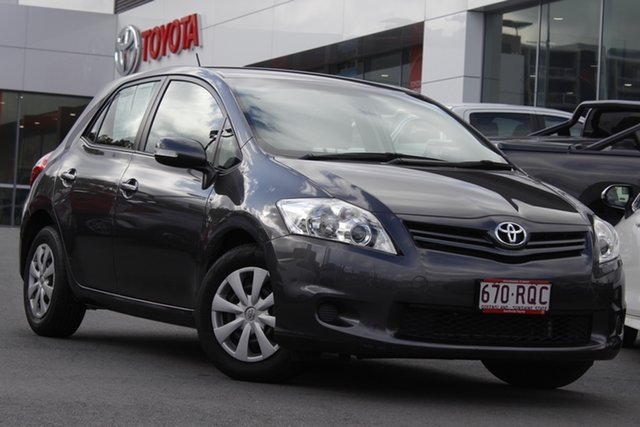 Pre-Owned Toyota Corolla ZRE152R MY11 Ascent Woolloongabba, 2011 Toyota Corolla ZRE152R MY11 Ascent Graphite 6 Speed Manual Hatchback