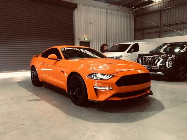 Used Ford Mustang FN 2020MY GT Epsom, 2020 Ford Mustang FN 2020MY GT Orange 10 Speed Sports Automatic Fastback