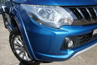 2016 Mitsubishi Triton MQ MY17 GLS (4x4) Impulse Blue 5 Speed Automatic Dual Cab Utility.