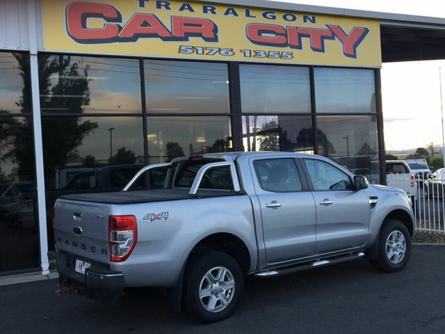 Used Ford Ranger PX XLT 3.2 (4x4) Traralgon, 2013 Ford Ranger PX XLT 3.2 (4x4) Silver 6 Speed Automatic Double Cab Pick Up
