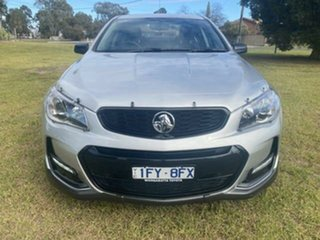 2016 Holden Commodore Vfii MY16 SV6 Black Edition Silver 6 Speed Automatic Sedan.