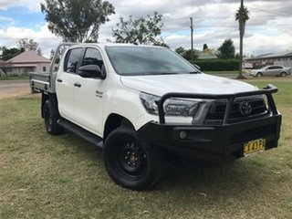 2020 Toyota Hilux GUN136R SR Double Cab 4x2 Hi-Rider White 6 Speed Sports Automatic Utility.