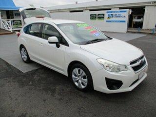 2013 Subaru Impreza White 6 Speed Manual Hatchback