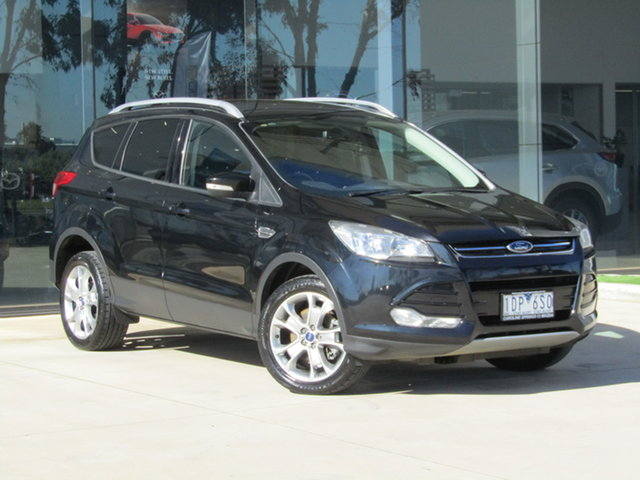 Used Ford Kuga TF MY15 Trend PwrShift AWD Ravenhall, 2014 Ford Kuga TF MY15 Trend PwrShift AWD Black 6 Speed Sports Automatic Dual Clutch Wagon