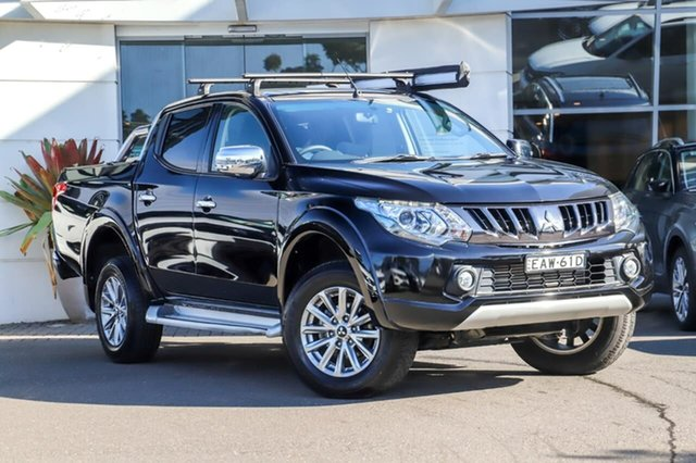 Used Mitsubishi Triton MQ MY18 GLS Double Cab Sutherland, 2018 Mitsubishi Triton MQ MY18 GLS Double Cab Black 6 Speed Manual Utility