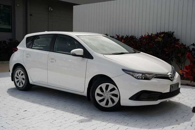 Used Toyota Corolla ZRE182R Ascent S-CVT Cairns, 2016 Toyota Corolla ZRE182R Ascent S-CVT White 7 Speed Constant Variable Hatchback