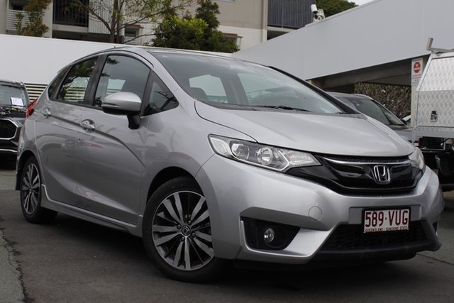 Used Honda Jazz GF MY15 VTi-L Mount Gravatt, 2015 Honda Jazz GF MY15 VTi-L Silver 1 Speed Constant Variable Hatchback