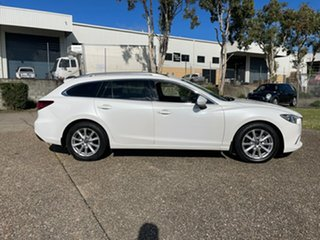 2013 Mazda 6 6C Touring White 6 Speed Automatic Wagon.