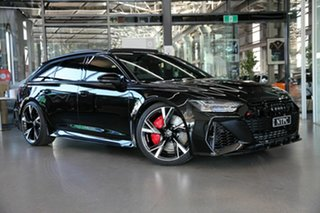 2020 Audi RS6 4A MY21 Avant Tiptronic Quattro Black 8 Speed Sports Automatic Wagon.