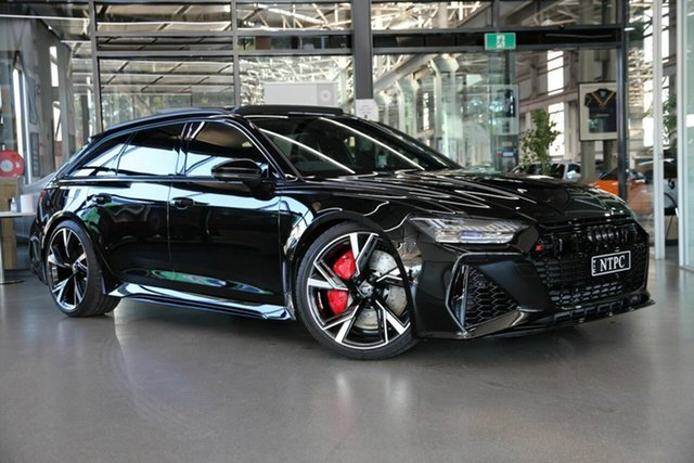 Used Audi RS6 4A MY21 Avant Tiptronic Quattro North Melbourne, 2020 Audi RS6 4A MY21 Avant Tiptronic Quattro Black 8 Speed Sports Automatic Wagon