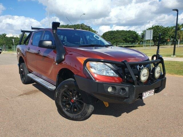 Used Mazda BT-50 UP0YF1 XT Townsville, 2012 Mazda BT-50 UP0YF1 XT Red 6 Speed Manual Utility