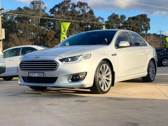Used Ford Falcon Goulburn, 2015 Ford Falcon G6E - Turbo Silver Sports Automatic Sedan