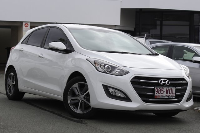 Used Hyundai i30 GD4 Series II MY17 Active X Mount Gravatt, 2016 Hyundai i30 GD4 Series II MY17 Active X White 6 Speed Sports Automatic Hatchback